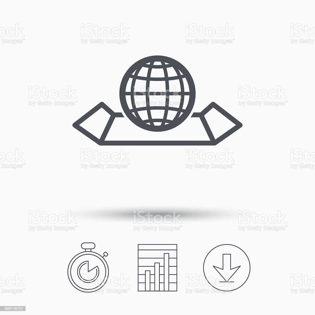 World map icon globe sign stock vector art 586745722 istock world map icon globe sign royalty free stock vector art gumiabroncs Choice Image