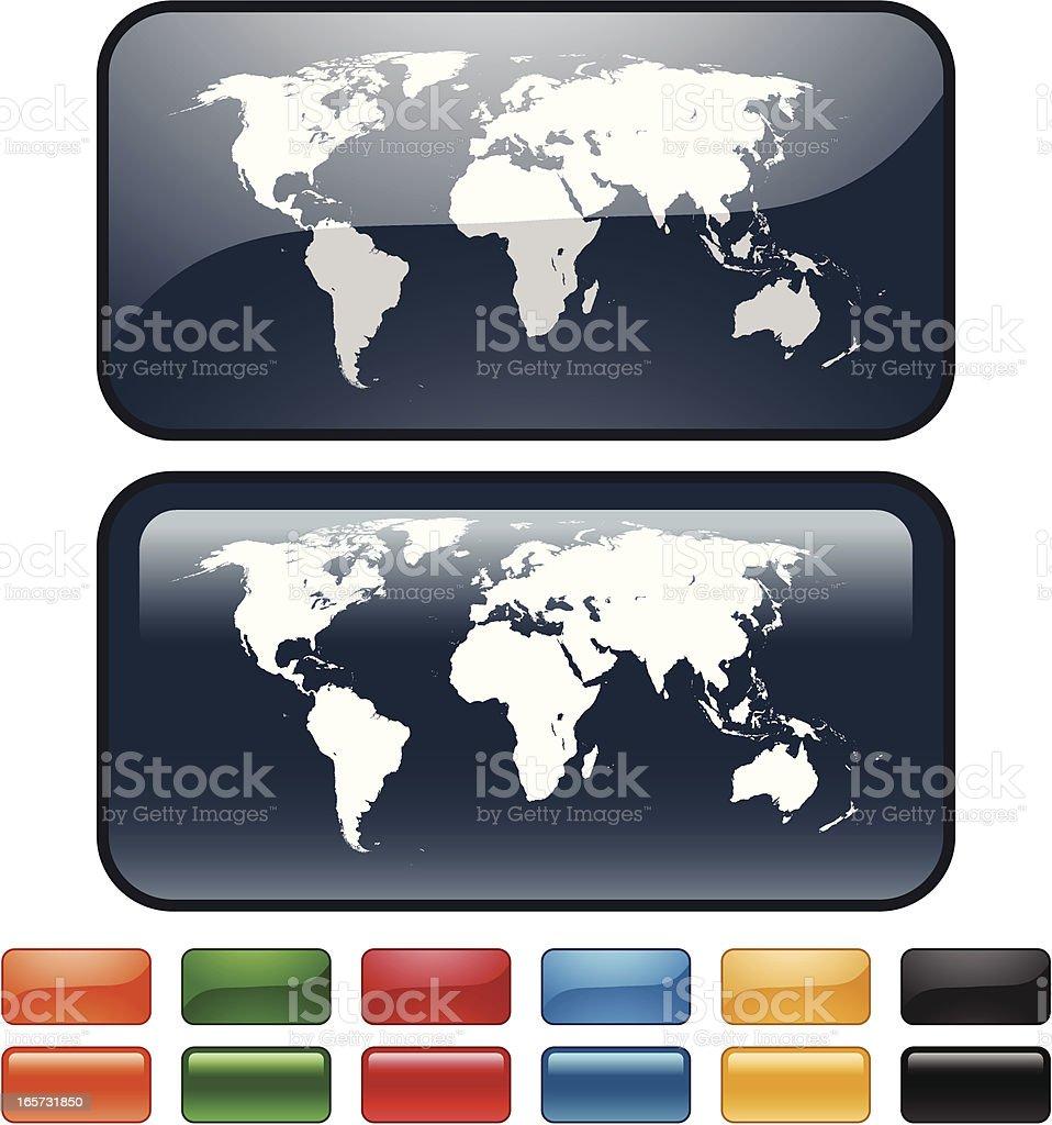 World Map Icon royalty-free stock vector art
