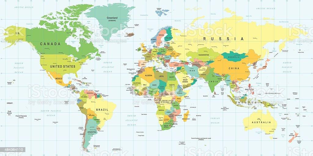 World Map - illustration vector art illustration