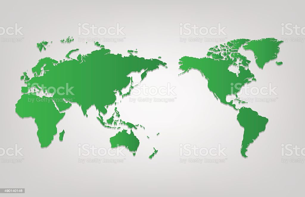 World map of vector, vector illustration vector art illustration