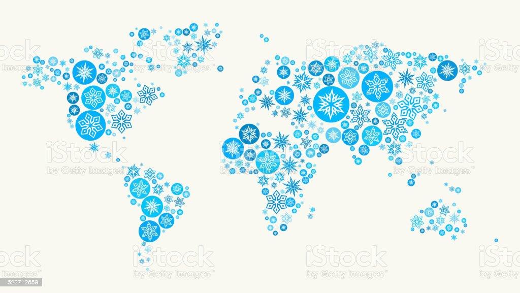 World Map on White Background vector art illustration