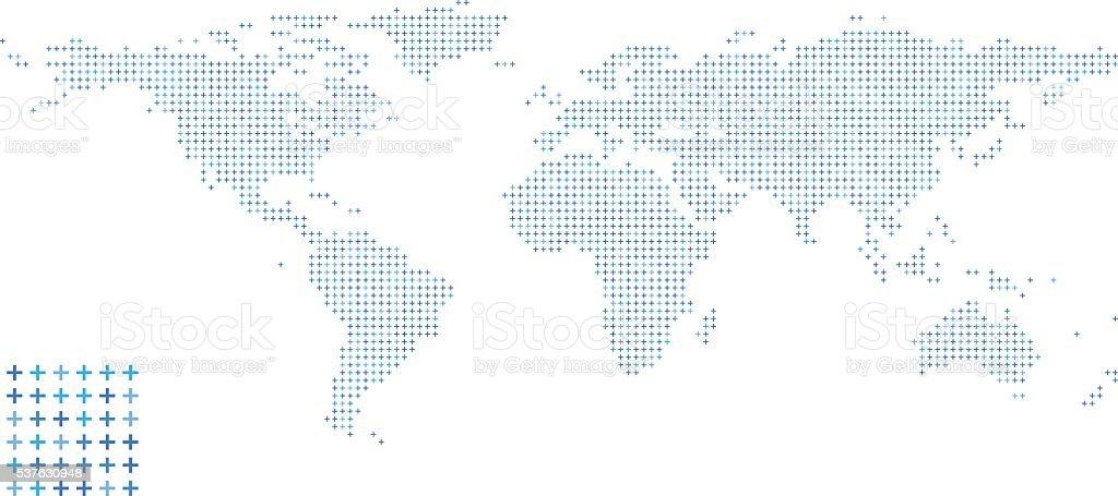 World Map - Pattern Design vector art illustration