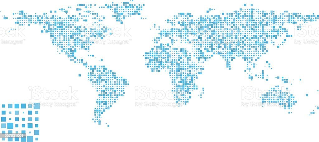 World Map - Pattern Design vector art illustration