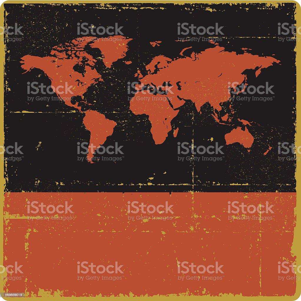 World Map Sign royalty-free stock vector art
