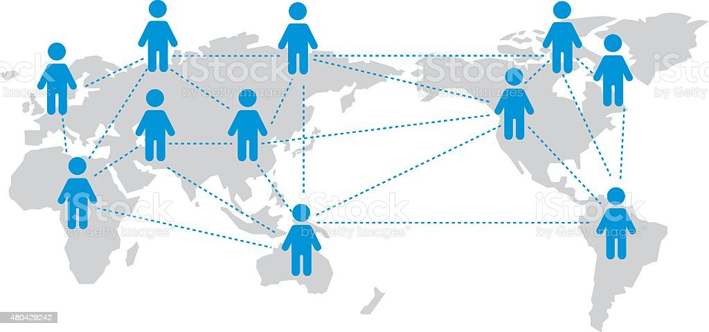 World map Social networking service Vector vector art illustration