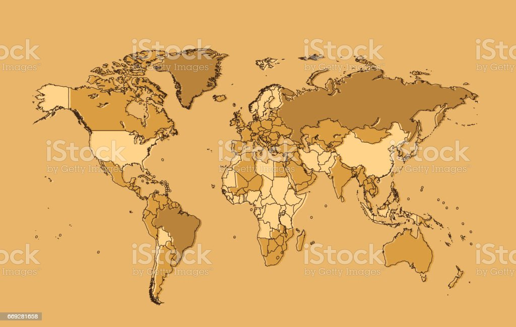World map vector flat design illustracion libre de derechos world map vector flat design illustracion libre de derechos libre de derechos gumiabroncs Images