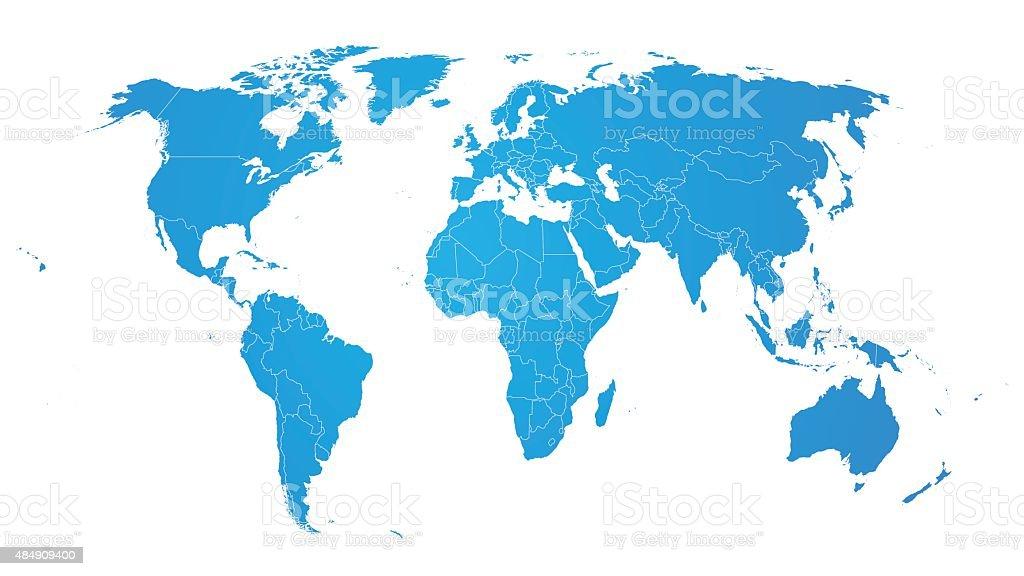 World Map Vector High definition point. vector art illustration