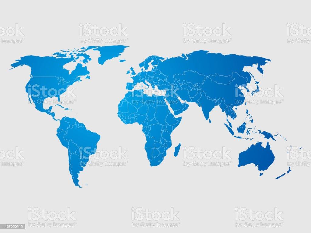 World Map vector art illustration