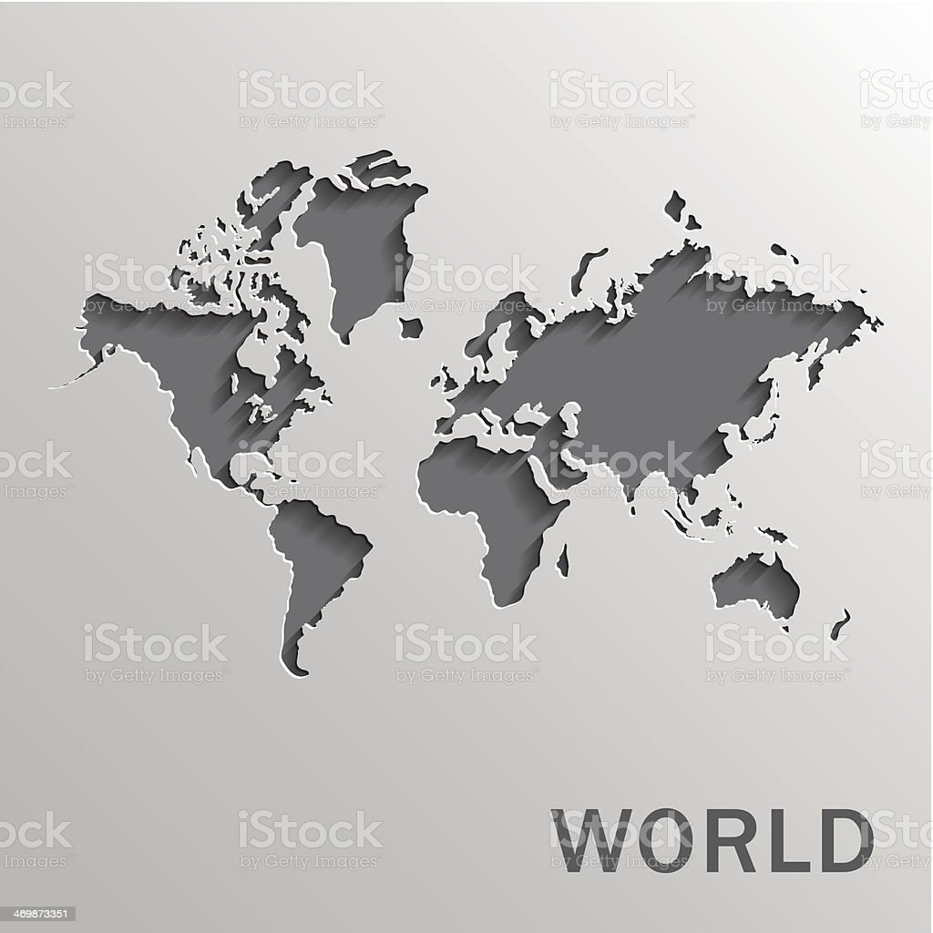 World map vector art illustration