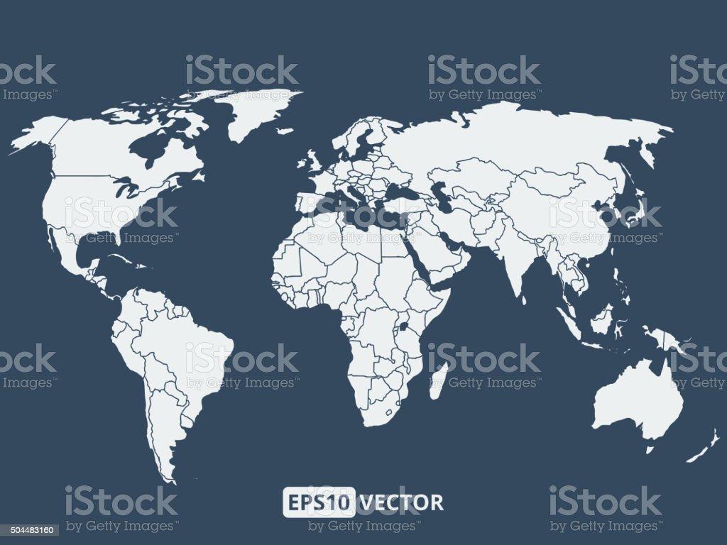 World map, vector illustration vector art illustration