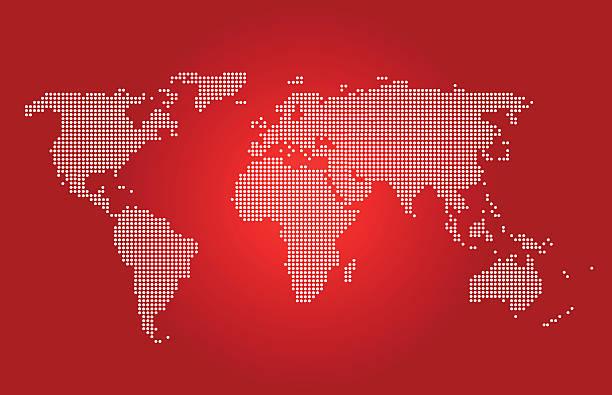 Vectores de african tnica fondo con ilustracin de mapa y mapa mundial de color rojo vector de mapa vectorial ilustracin de arte vectorial gumiabroncs Image collections