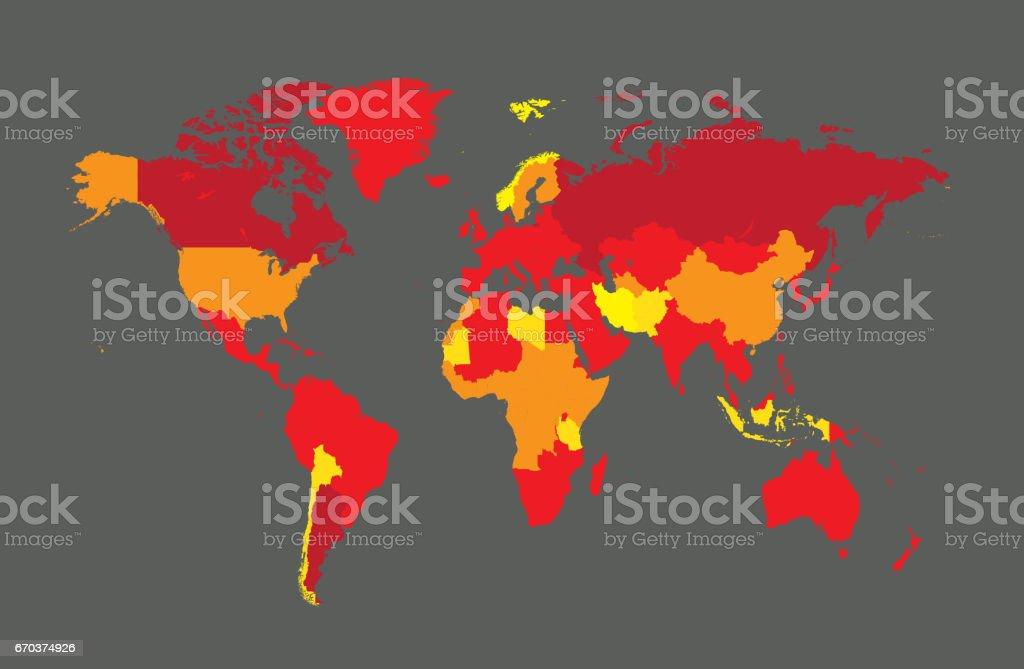 World map with countries illustracion libre de derechos 670374926 europa mapa papel de pared serbia asia world map with countries gumiabroncs Gallery