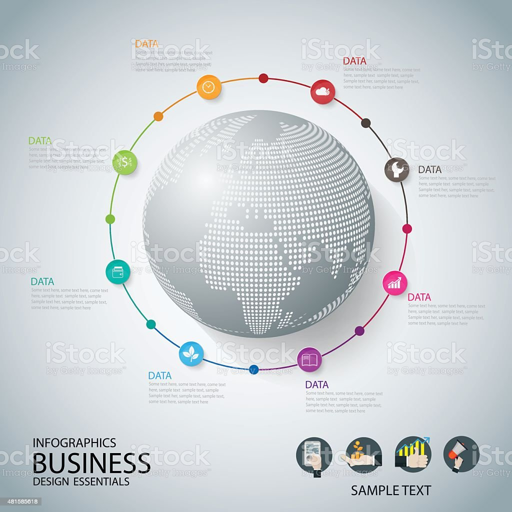 World map with pointer marks communication concept business . vector vector art illustration