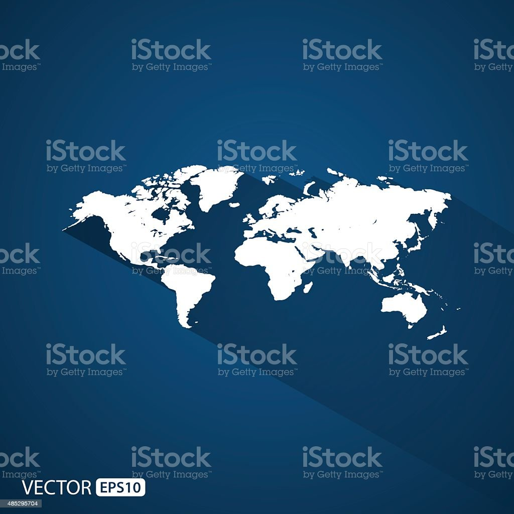 world map.vector vector art illustration