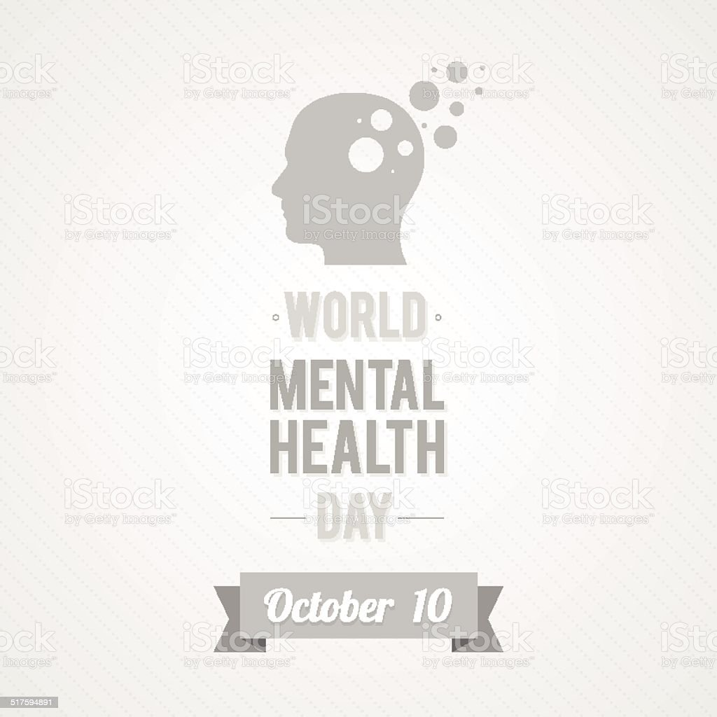 World Mental Health Day vector art illustration