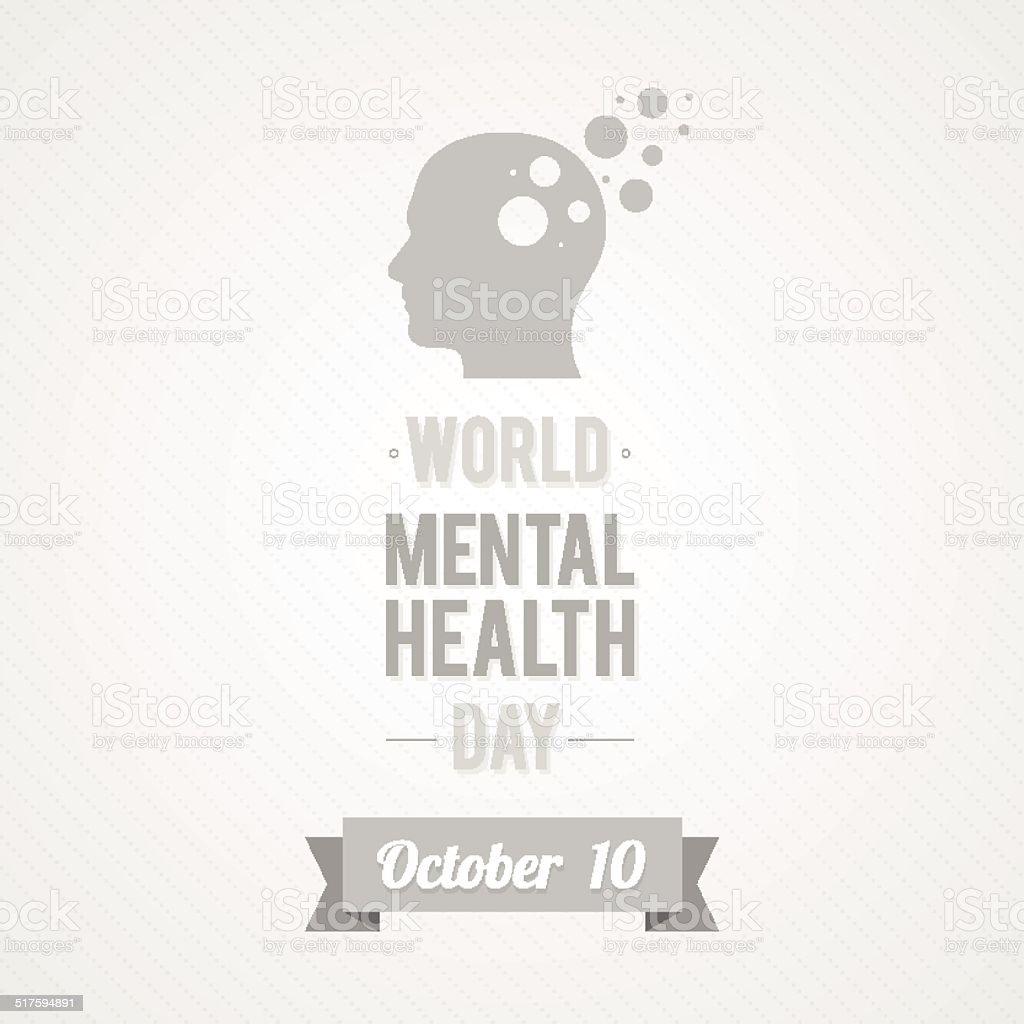 World Mental Health Day vector art illustration