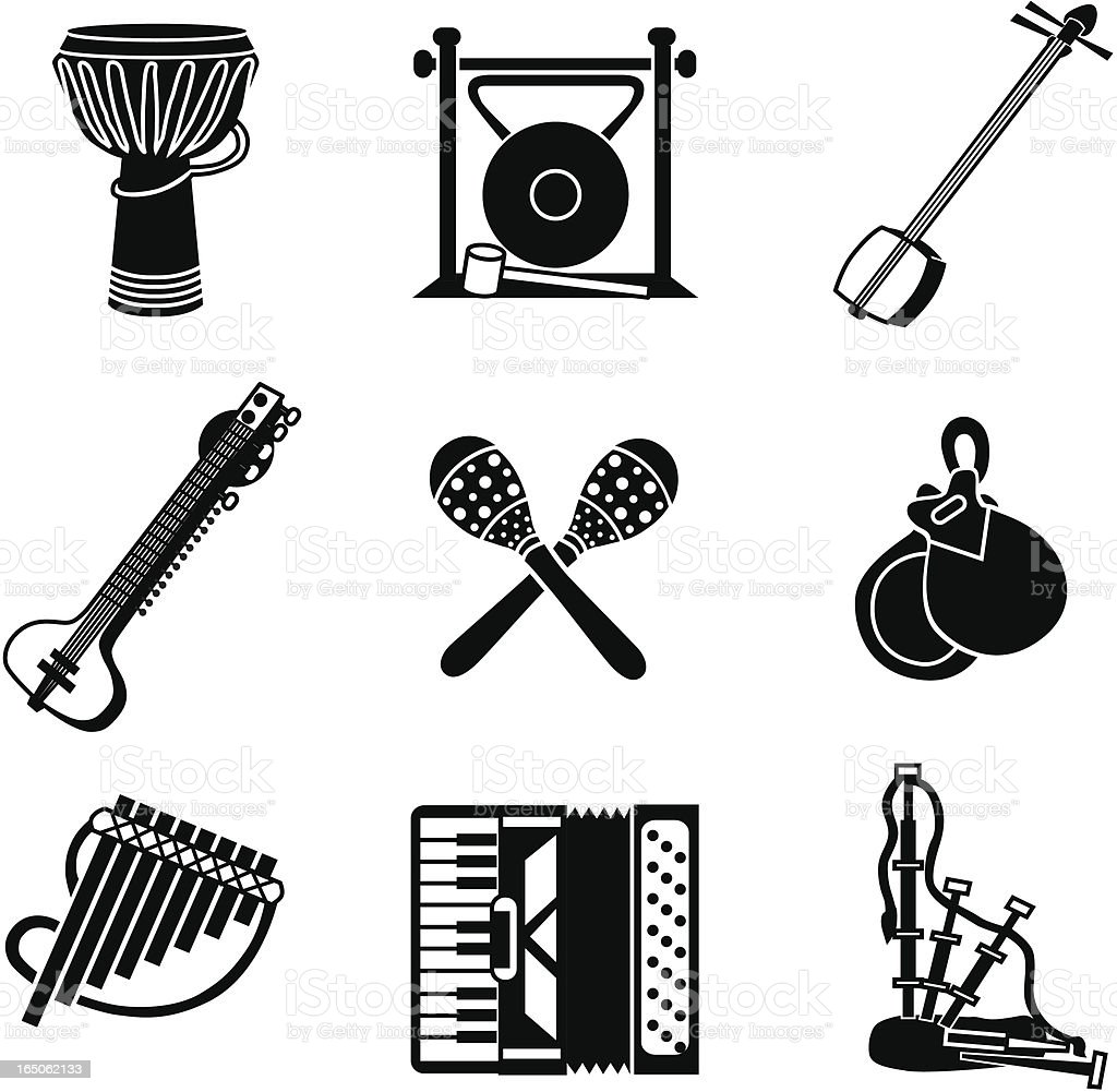 world music icons royalty-free stock vector art