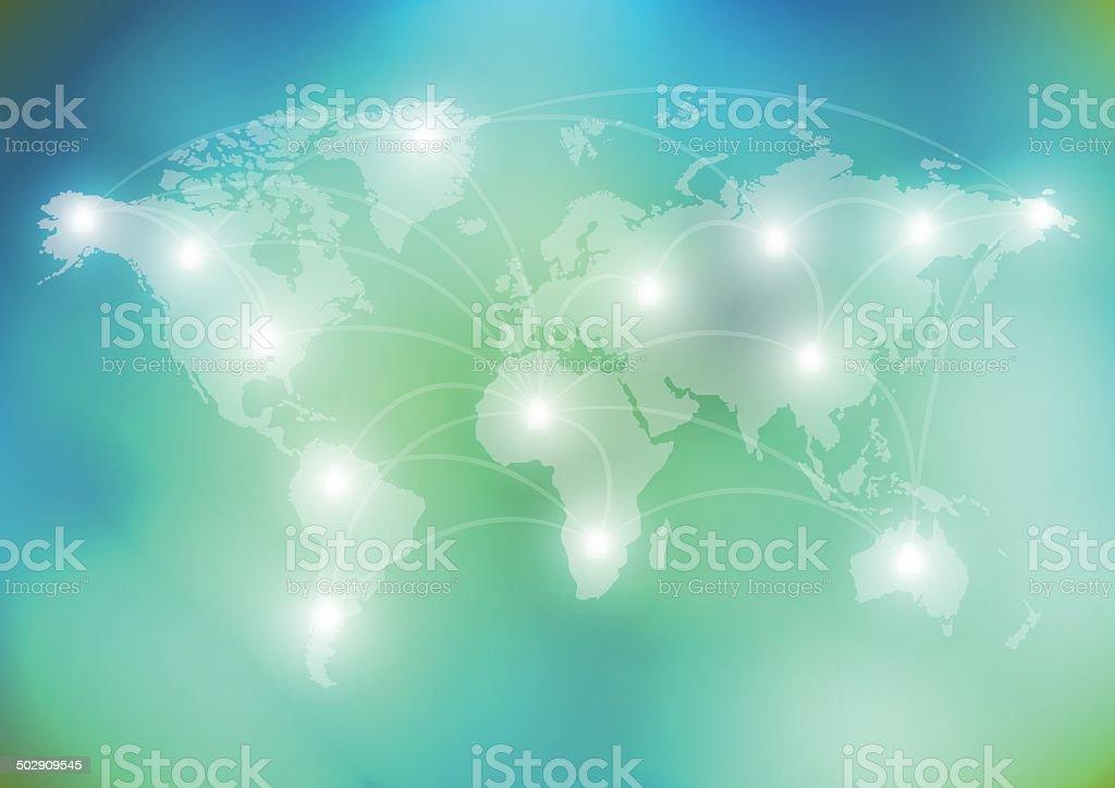world network communication vector art illustration