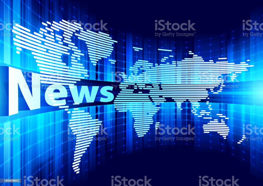 World news vector art illustration
