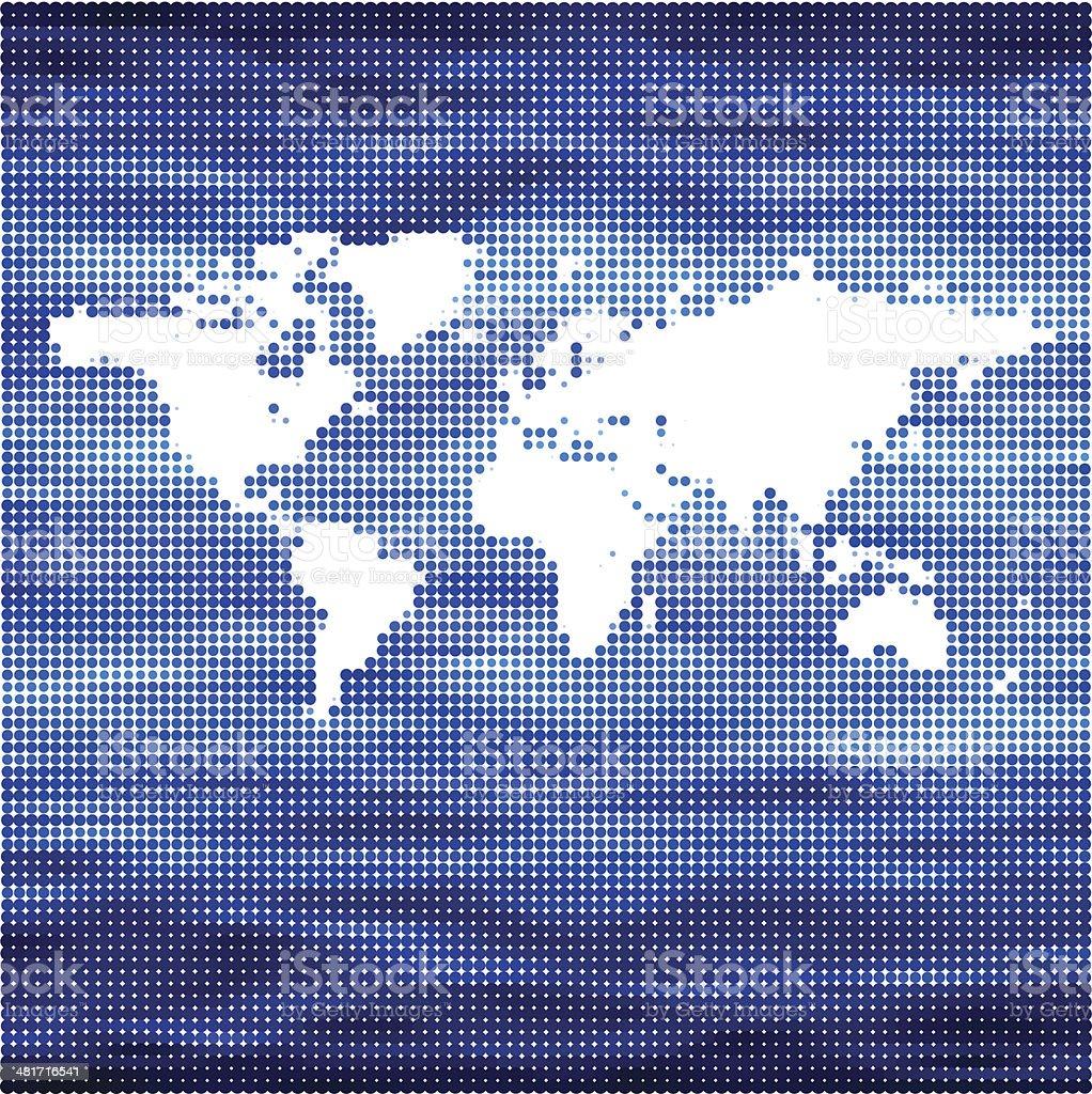 Conceito de vetor mapa mundo para o mar vetor e ilustração royalty-free royalty-free