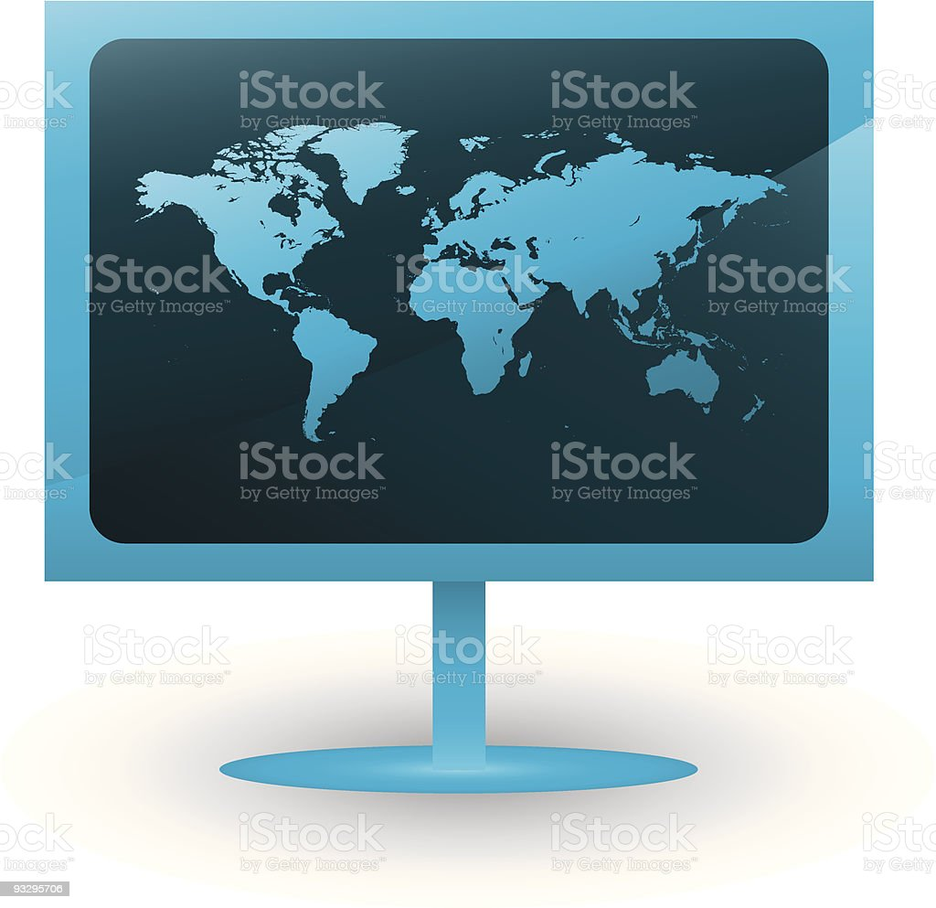 World on screen royalty-free stock vector art