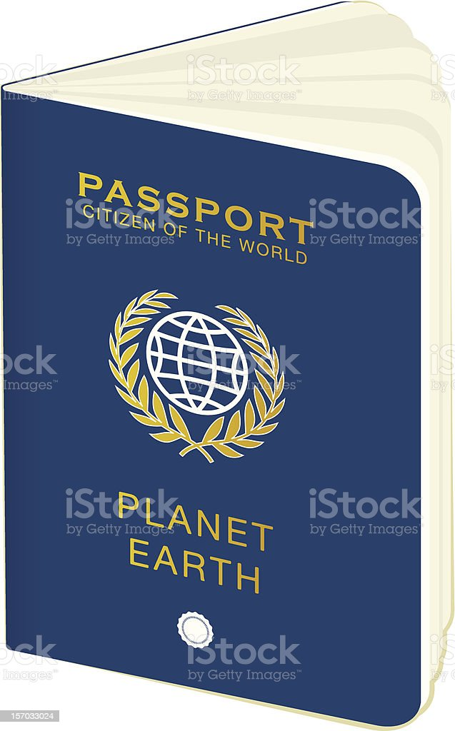 world passport royalty-free stock vector art