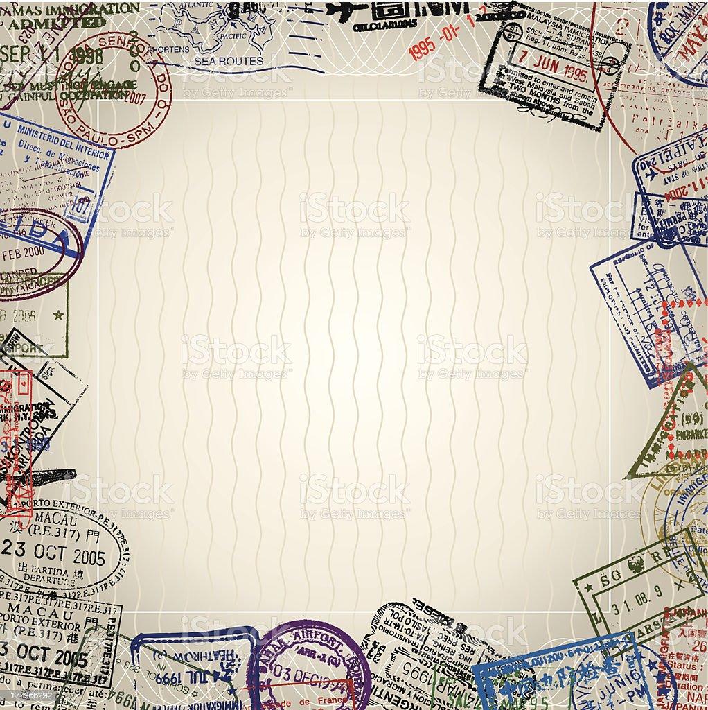 World Passport vector art illustration