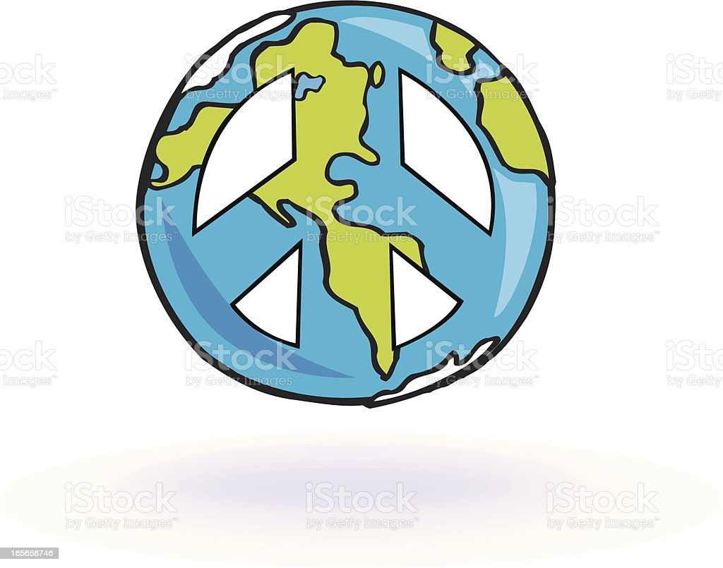 World Peace - Earth Globe royalty-free stock vector art