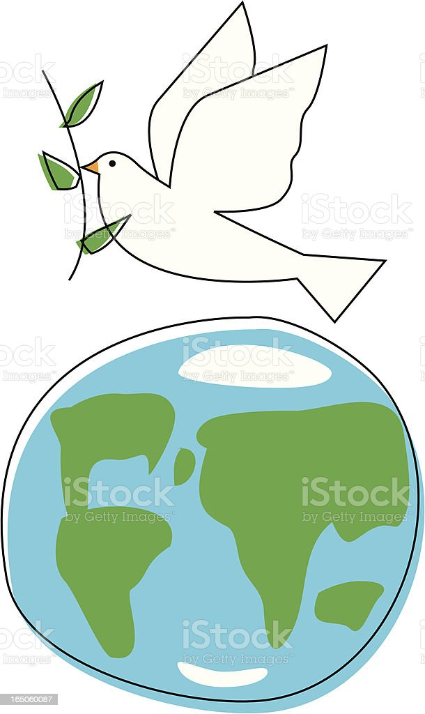 World Peace vector art illustration