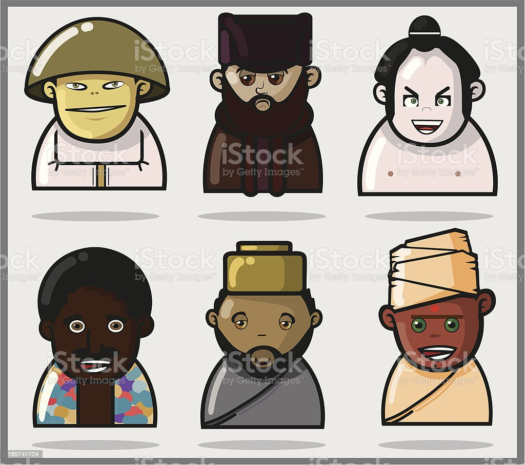 World People. Different cultures royalty-free stock vector art
