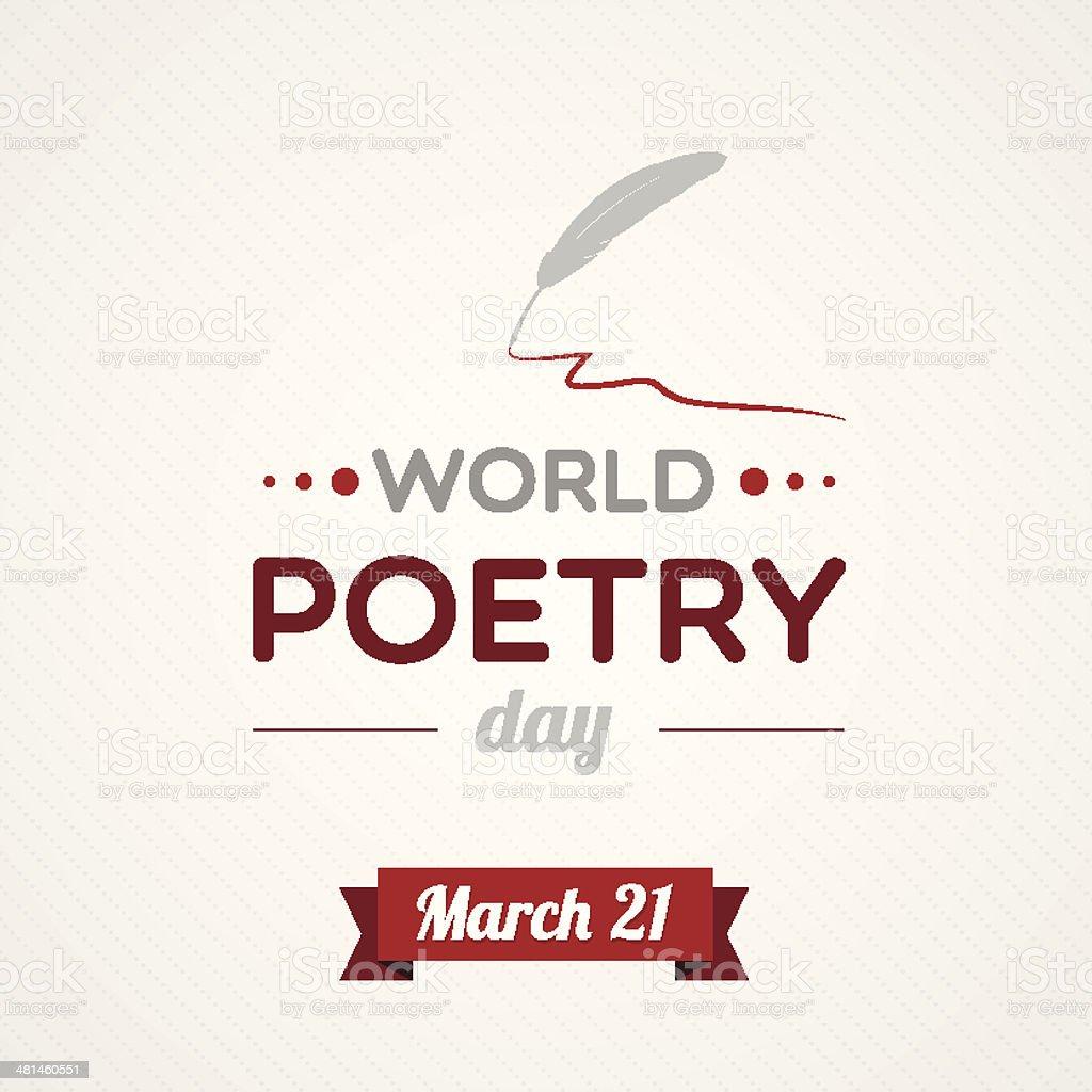 World Poetry Day vector art illustration