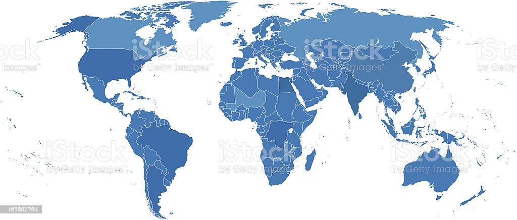 World political map royalty-free stock vector art