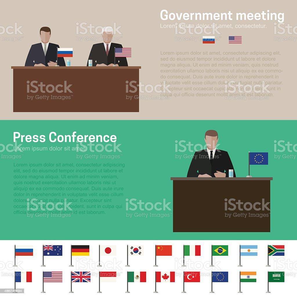 World Politics vector art illustration