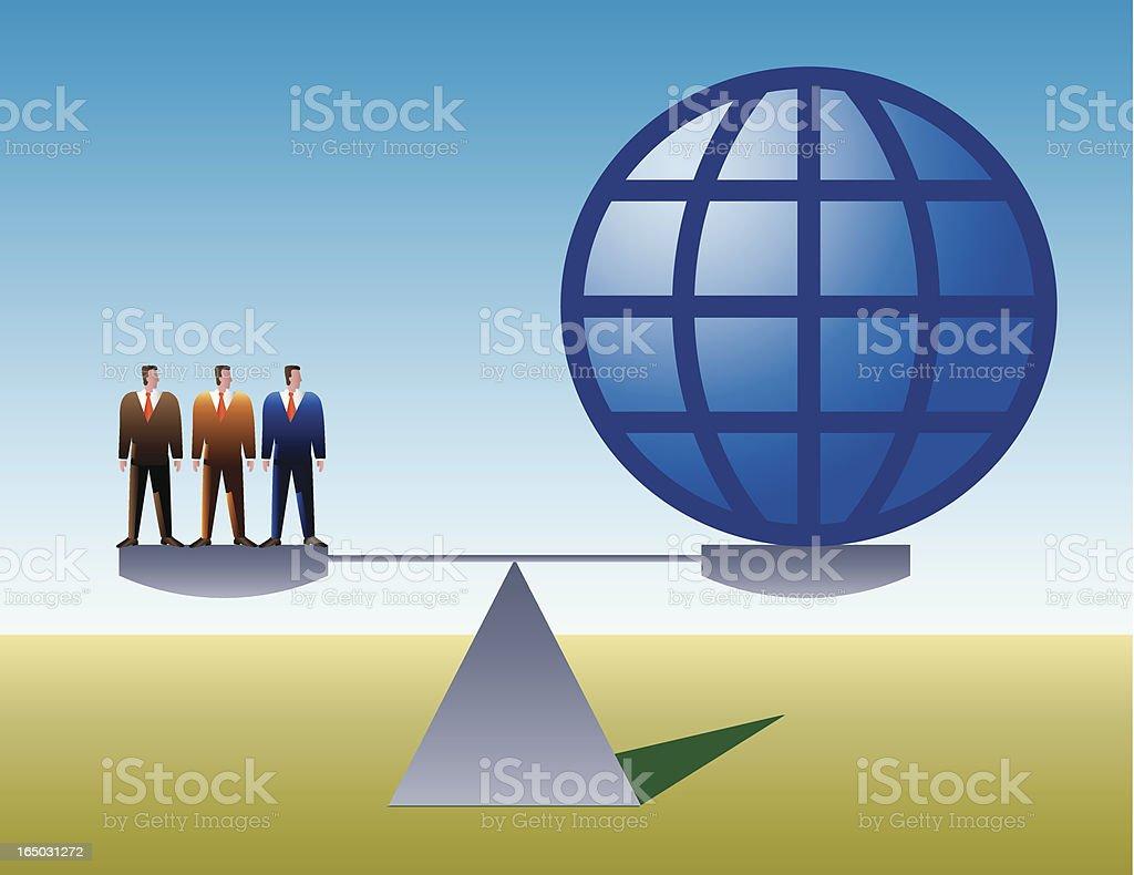 world population vector art illustration