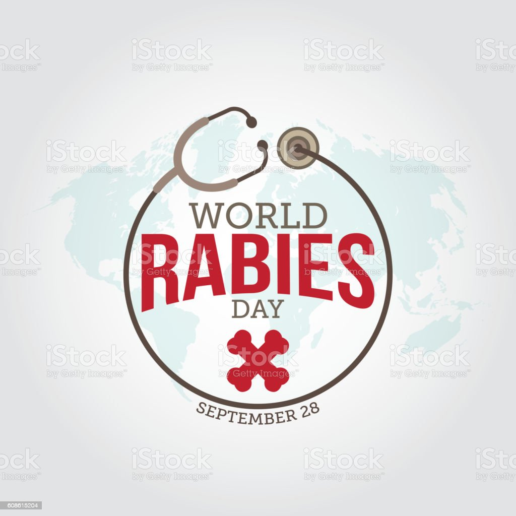 World rabies day vector art illustration