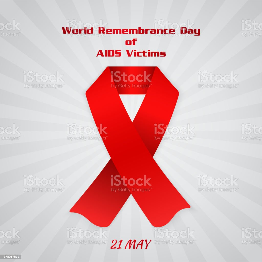 World Remembrance Day of AIDS Victims vector art illustration