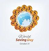 World savings day. vector illustration.