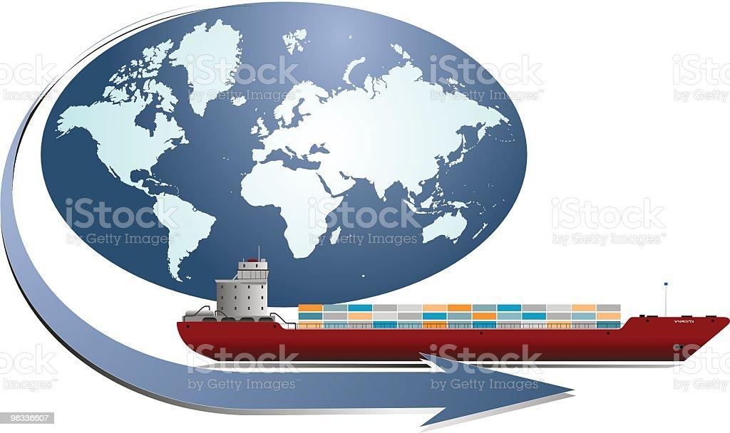 World Shipping royalty-free stock vector art