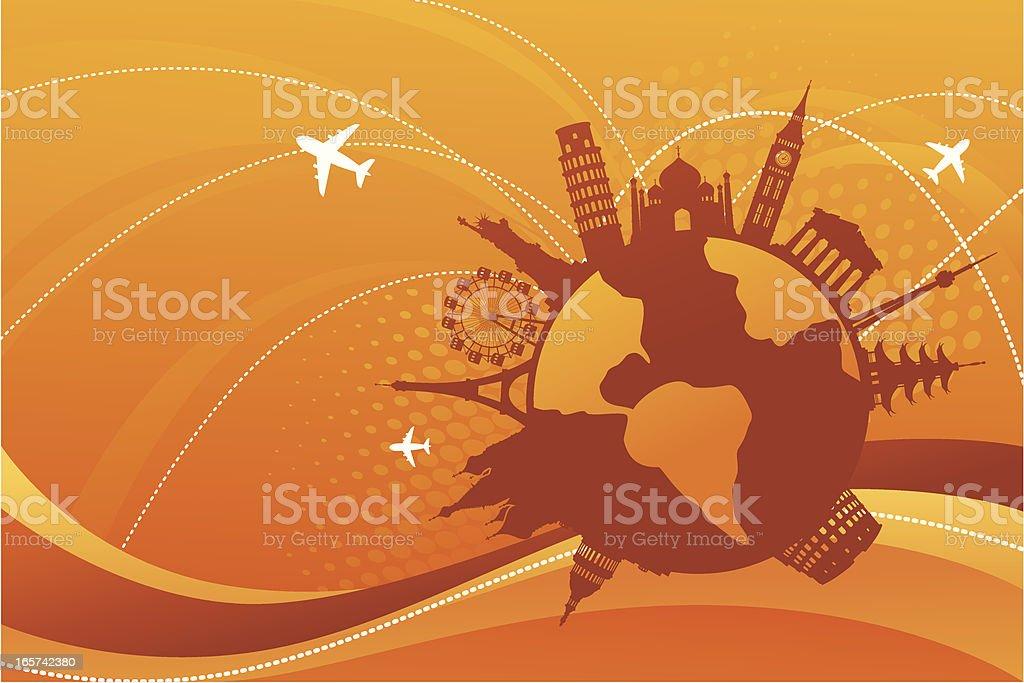 World Sightseeing vector art illustration