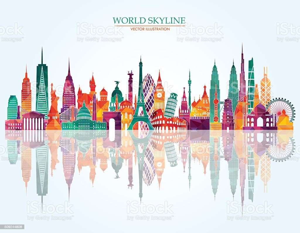 World skyline detailed illustration. Vector illustration vector art illustration