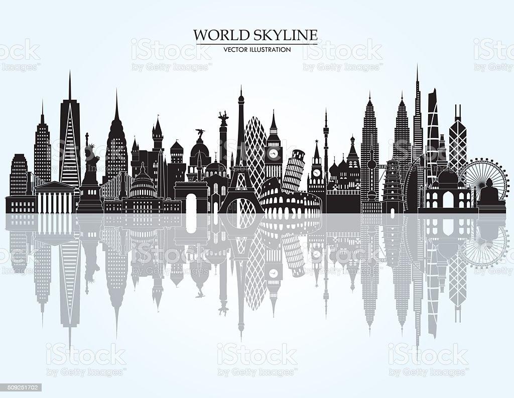 World skyline detailed illustration. Vector illustration vector art illustration