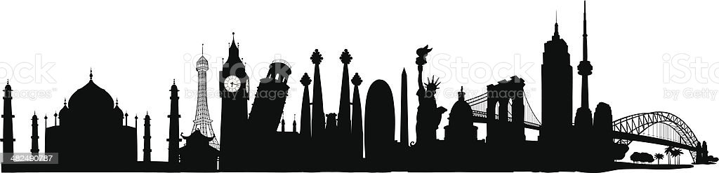 World Skyline royalty-free stock vector art