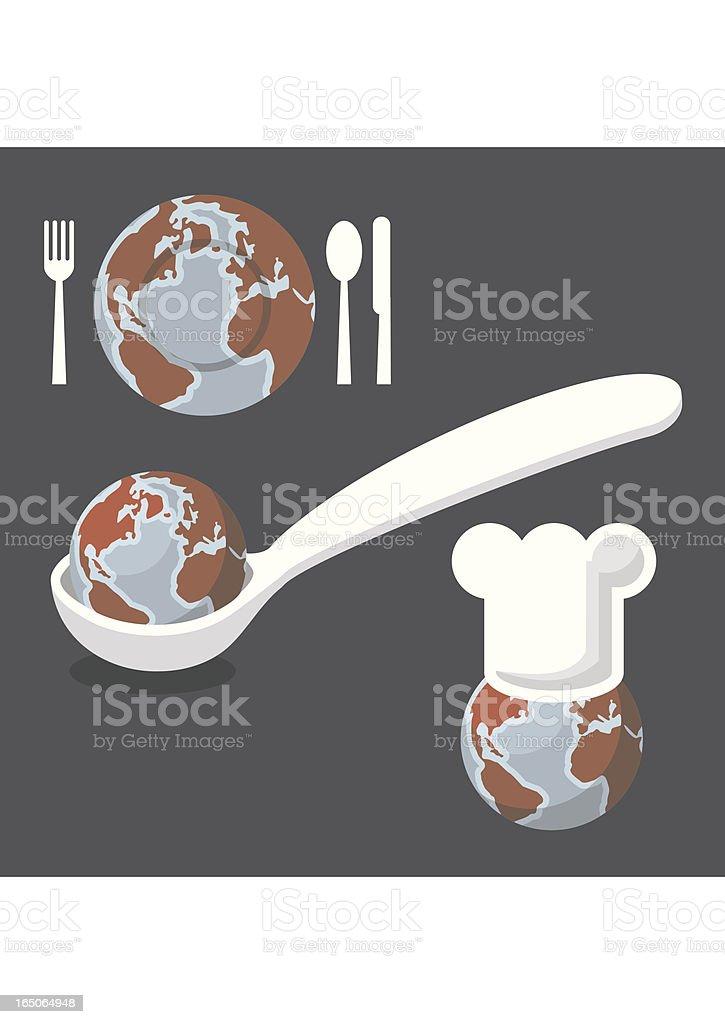 World Taste vector art illustration