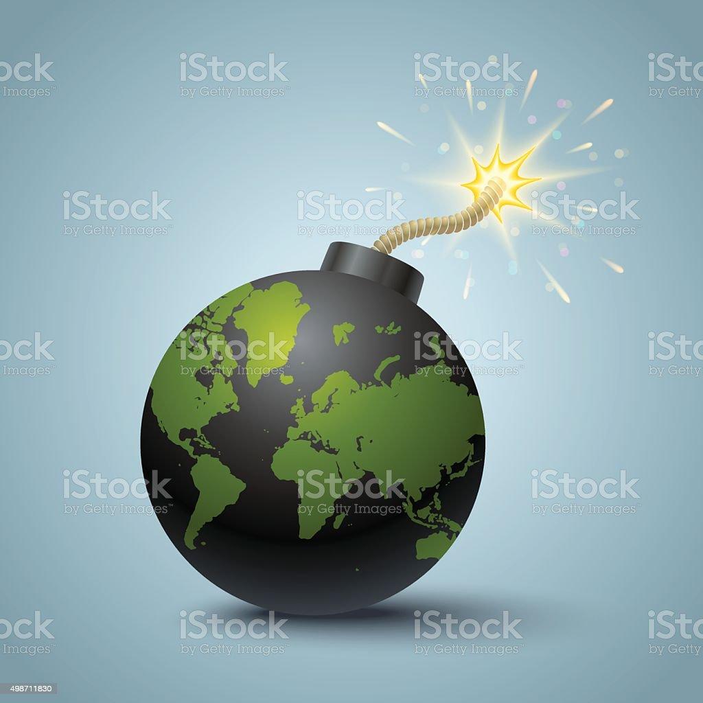 World terrorism vector art illustration