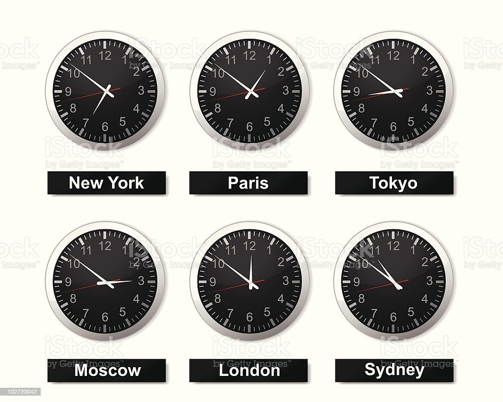 World Time royalty-free stock vector art