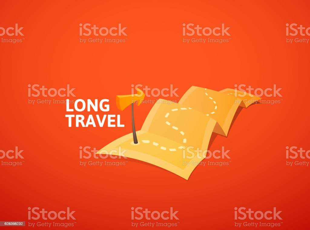 World Tour Concept Logo Travel Map With Guide Marker stock vector – Travel Marker Map