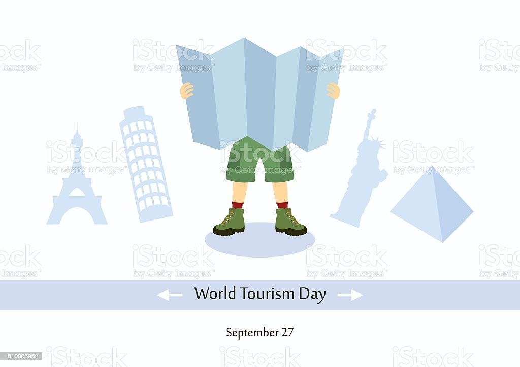 World Tourism Day vector vector art illustration