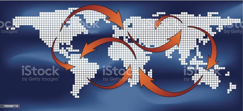 world trading concept royalty-free stock vector art