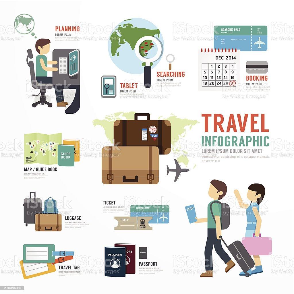 World Travel Business Template Design Infographic . vector art illustration