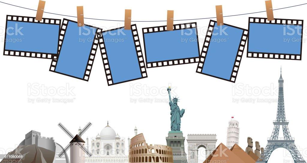 World travel template vector art illustration